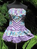 1950's BOXFRESH lilac and purple gingham vintage swimming costume **SOLD** es